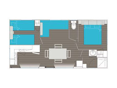 plan mobile-home Grand Large Camping Ar Kleguer