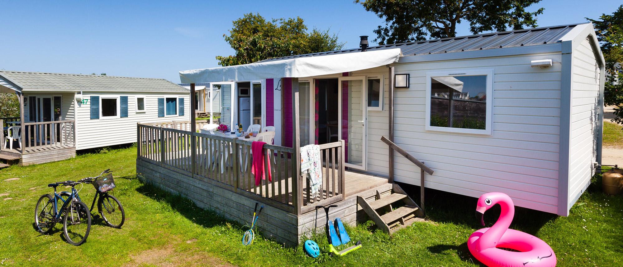 Location mobile-home camping Ar Kleguer